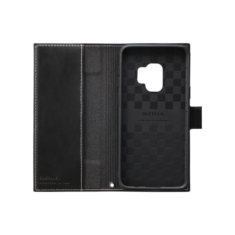 Galaxy S9 SC-02K/SCV38 薄型PUレザーフラップケース「PRIME」 ブラック