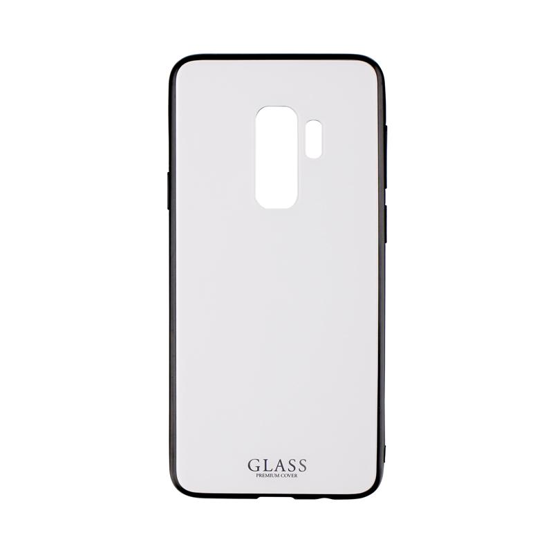Galaxy S9+ SC-03K/SCV39 背面ガラスシェルケース「SHELL GLASS」 ホワイト