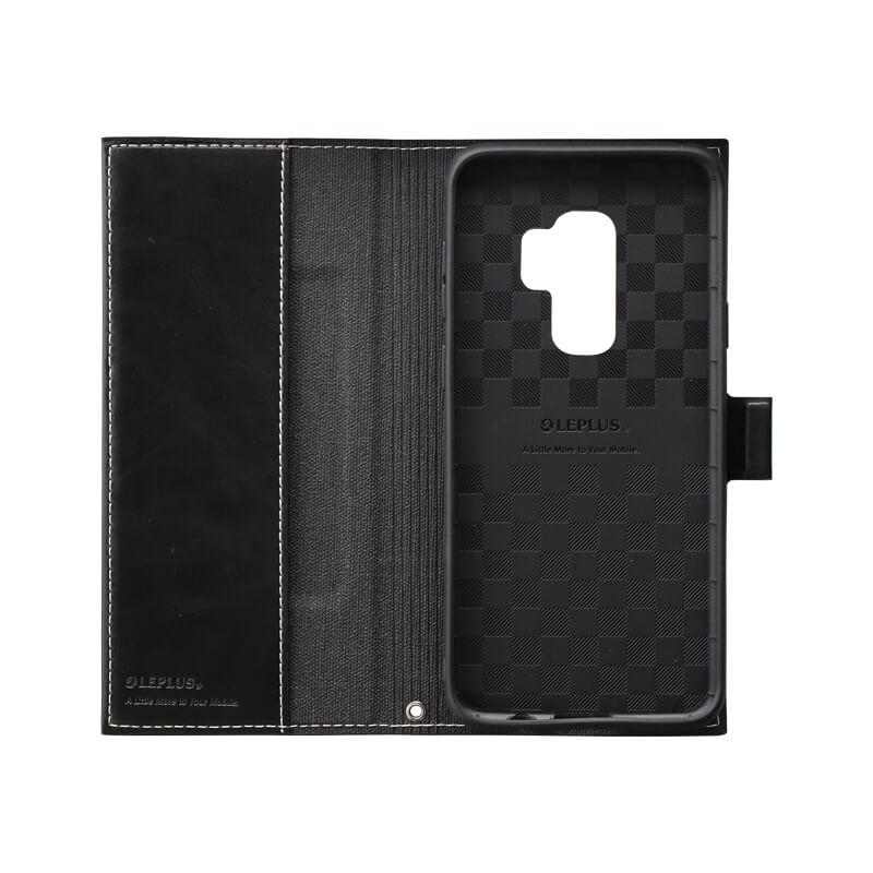 Galaxy S9+ SC-03K/SCV39 薄型PUレザーフラップケース「PRIME」 ブラック