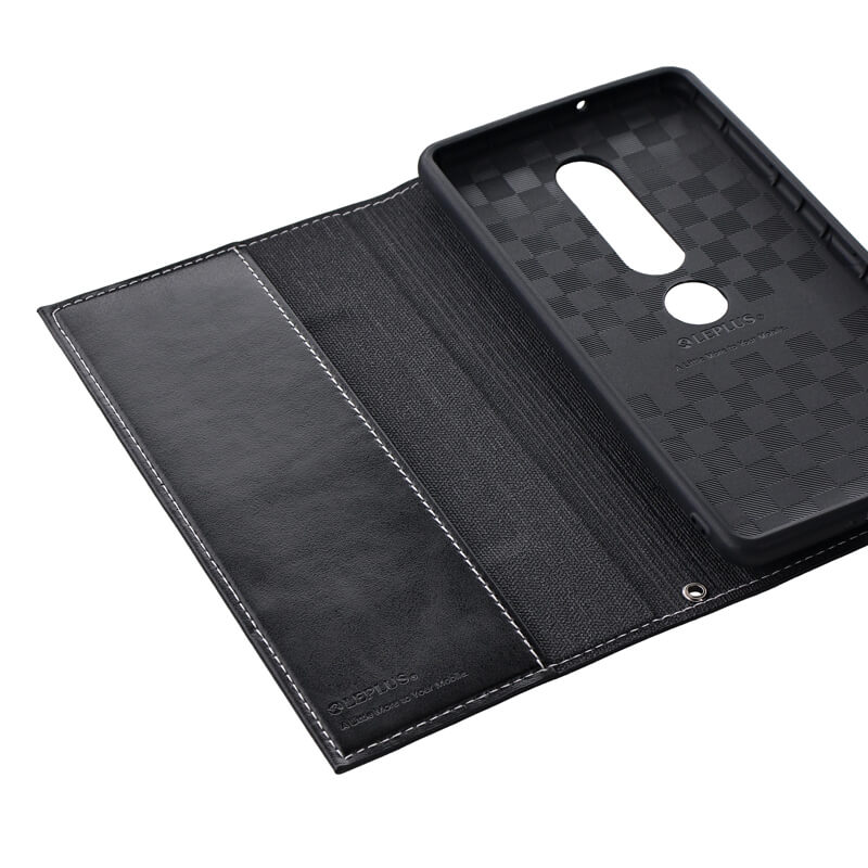 Xperia(TM) XZ2 Premium SO-04K/SOV38 薄型PUレザーフラップケース「PRIME」 ブラック