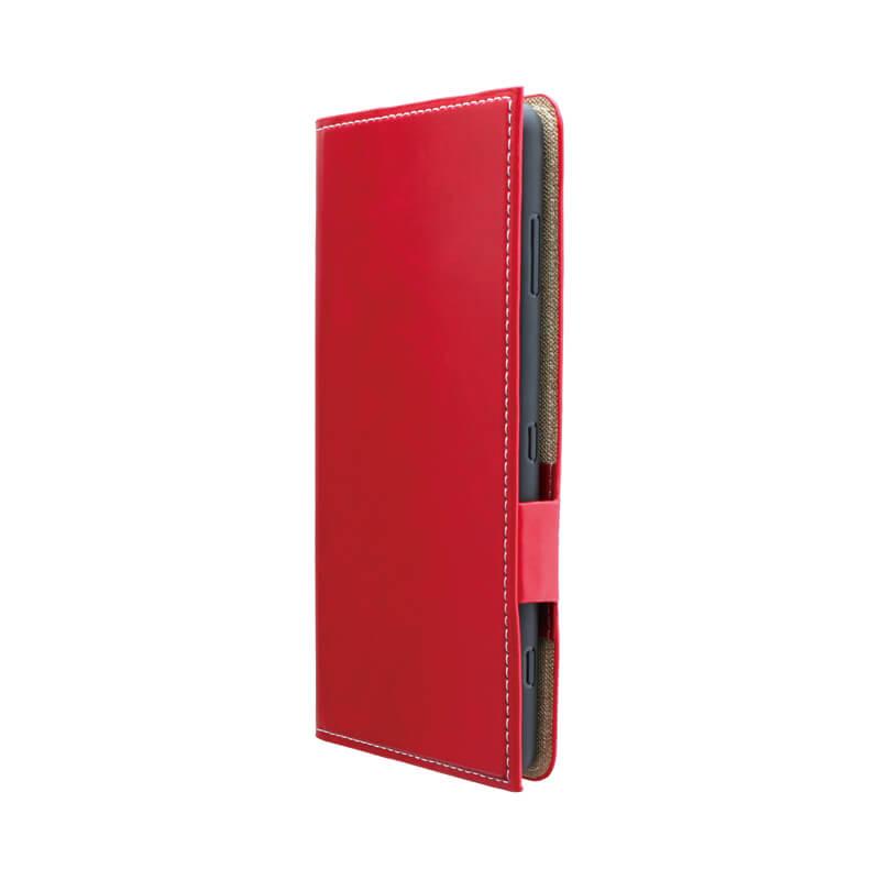 Xperia(TM) XZ2 Premium SO-04K/SOV38 薄型PUレザーフラップケース「PRIME」 レッド