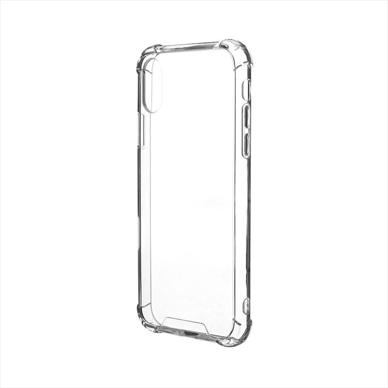 iPhone XS/iPhone X 「剛柔」 耐傷・耐衝撃ケース「ハイブリッドクリア」 クリア