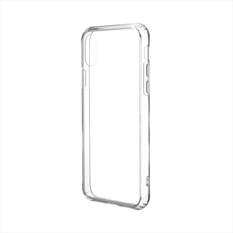 iPhone XS/iPhone X 「剛柔」 超透過・耐傷ケース「ガラスハイブリッドクリア」 クリア
