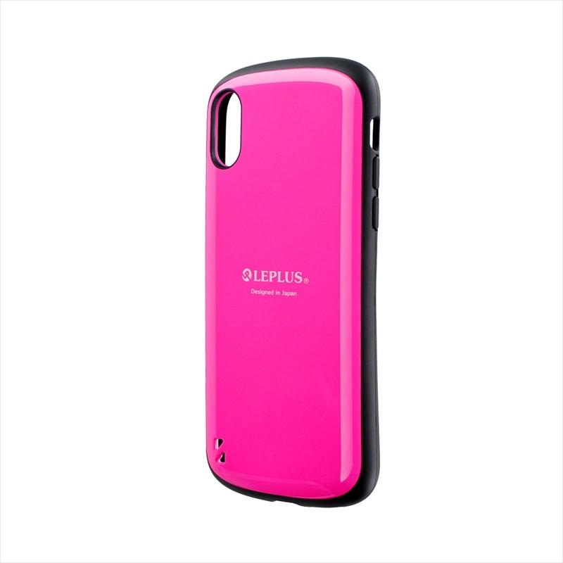 ◇iPhone XS/iPhone X 耐衝撃ハイブリッドケース「PALLET」 ホットピンク