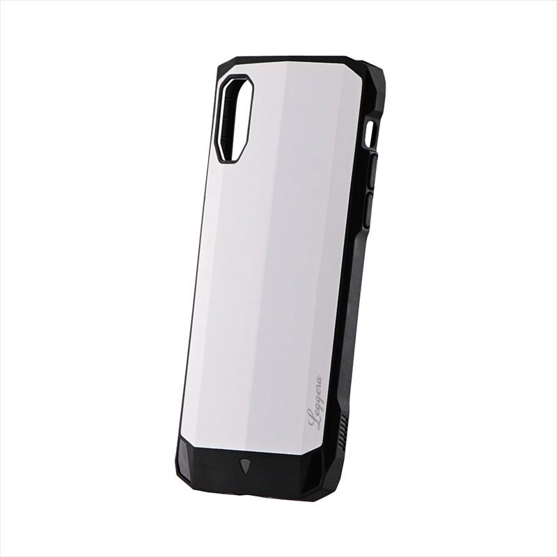 iPhone XS/iPhone X 耐衝撃ハイブリッドケース「LEGGERA」 ソリッドホワイト