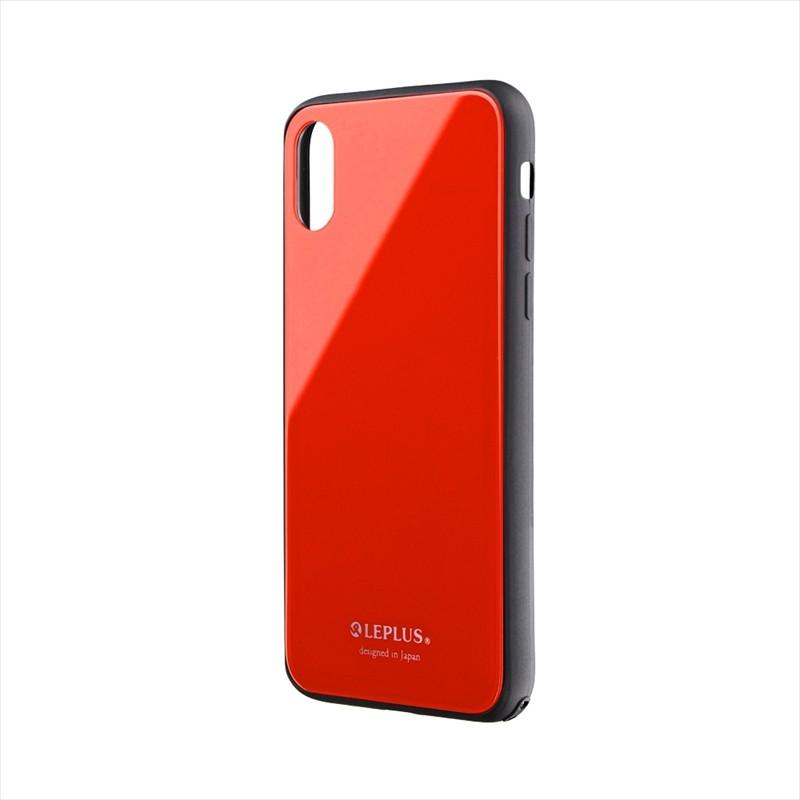 iPhone XS/iPhone X 背面ガラスシェルケース「SHELL GLASS」 レッド