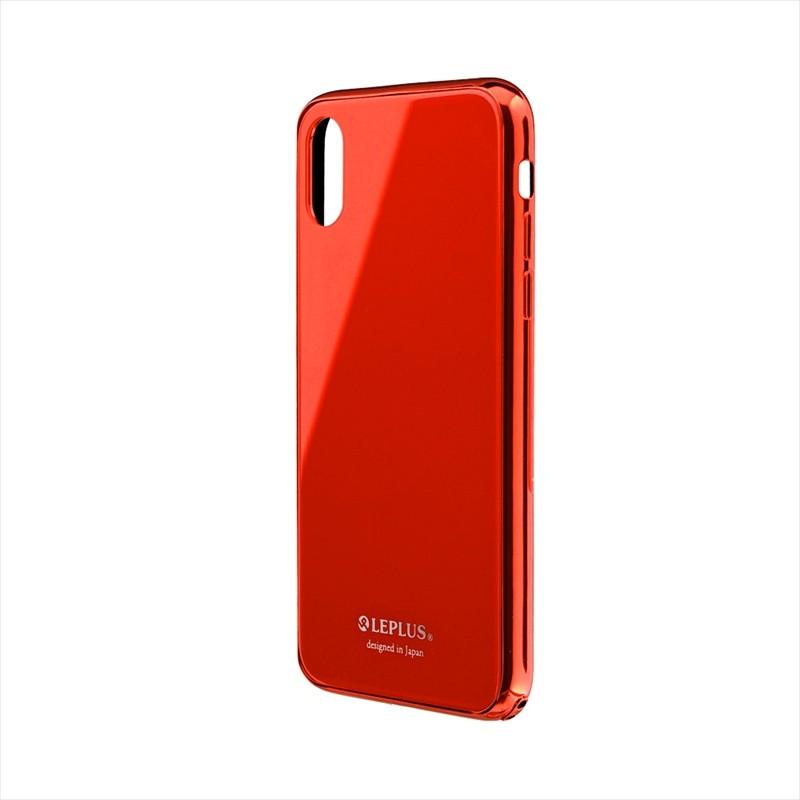 ◇iPhone XS/iPhone X 背面ガラスシェルケース「SHELL GLASS PREMIUM」 レッド