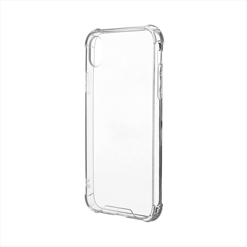 iPhone XR 「剛柔」 耐傷・耐衝撃ケース「ハイブリッドクリア」 クリア