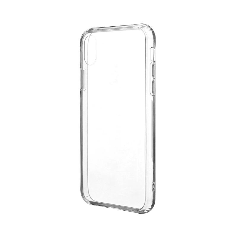iPhone XR 「剛柔」 超透過・耐傷ケース「ガラスハイブリッドクリア」 クリア