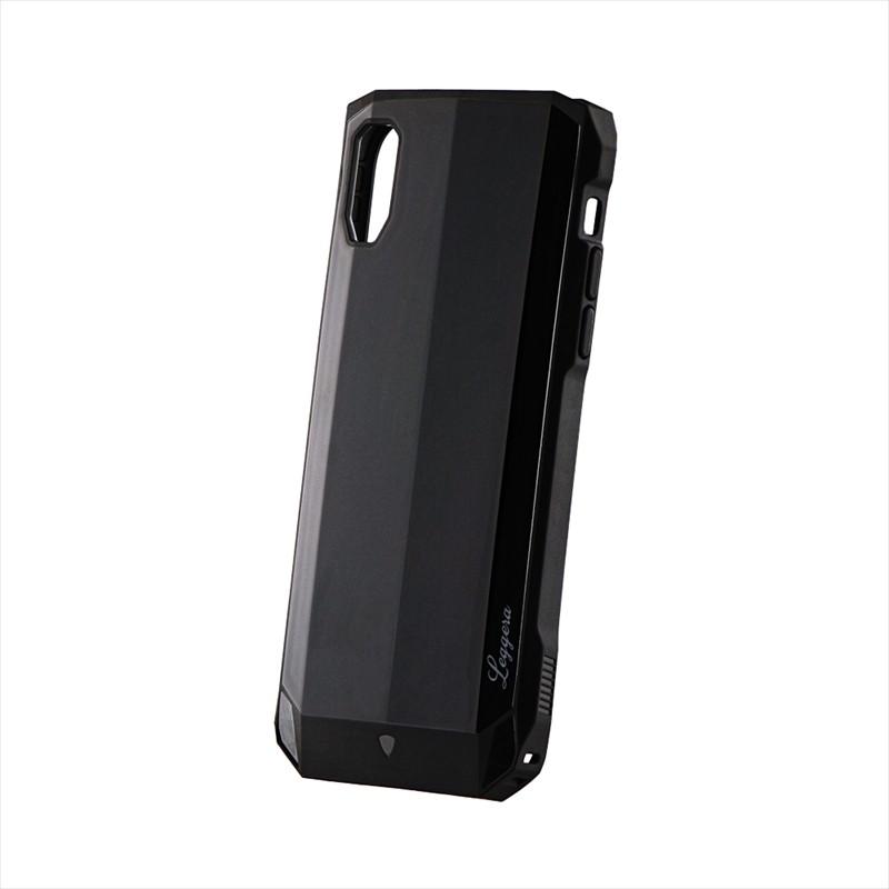 iPhone XR 耐衝撃ハイブリッドケース「LEGGERA」 ソリッドブラック