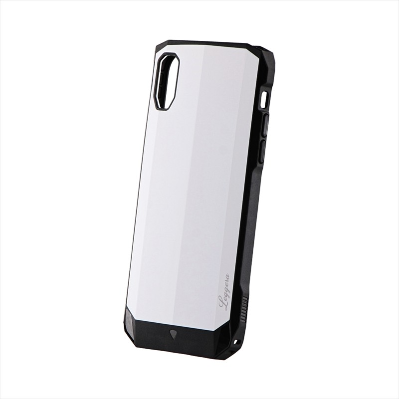 iPhone XR 耐衝撃ハイブリッドケース「LEGGERA」 ソリッドホワイト