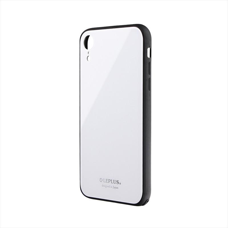 iPhone XR 背面ガラスシェルケース「SHELL GLASS」 ホワイト