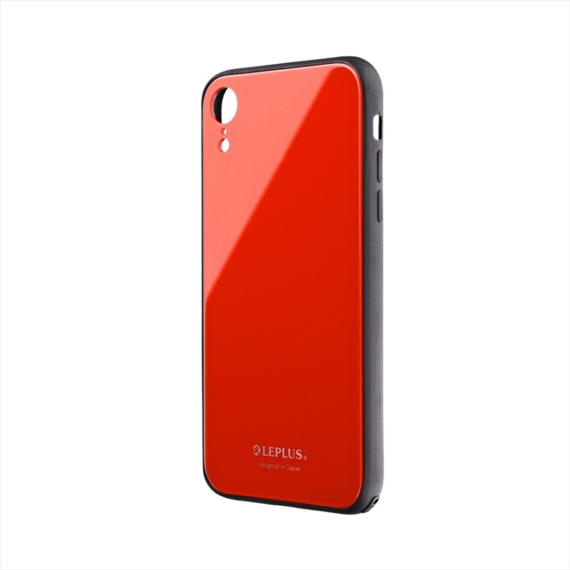 iPhone XR 背面ガラスシェルケース「SHELL GLASS」 レッド