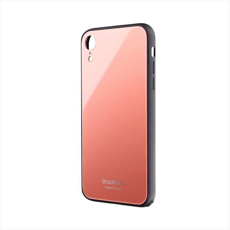 ◇iPhone XR 背面ガラスシェルケース「SHELL GLASS」 ピンク