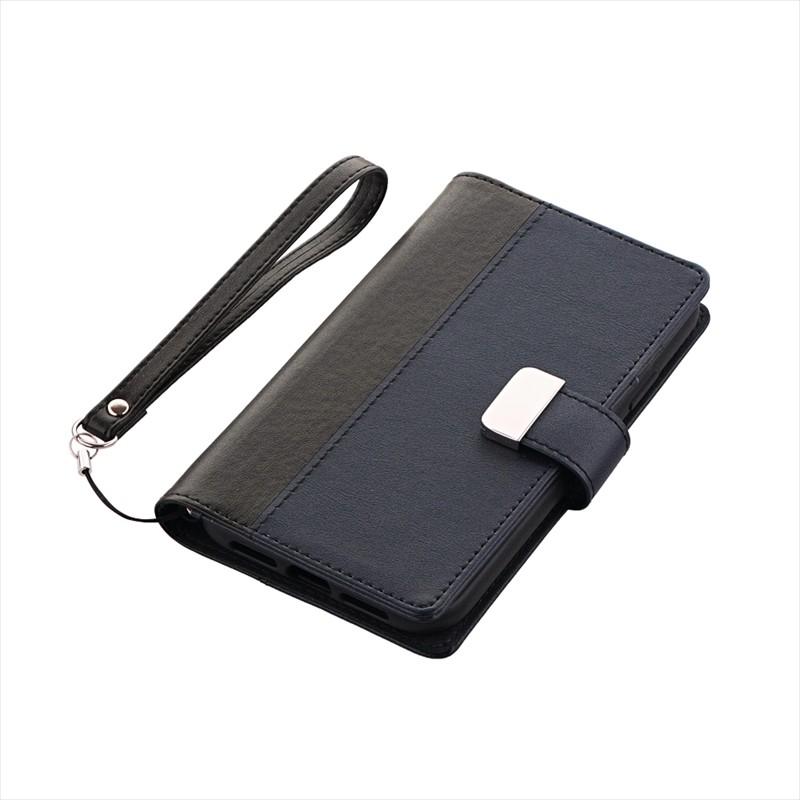 iPhone XR 上質PUレザーブックケース「PREMIER」 ブラック