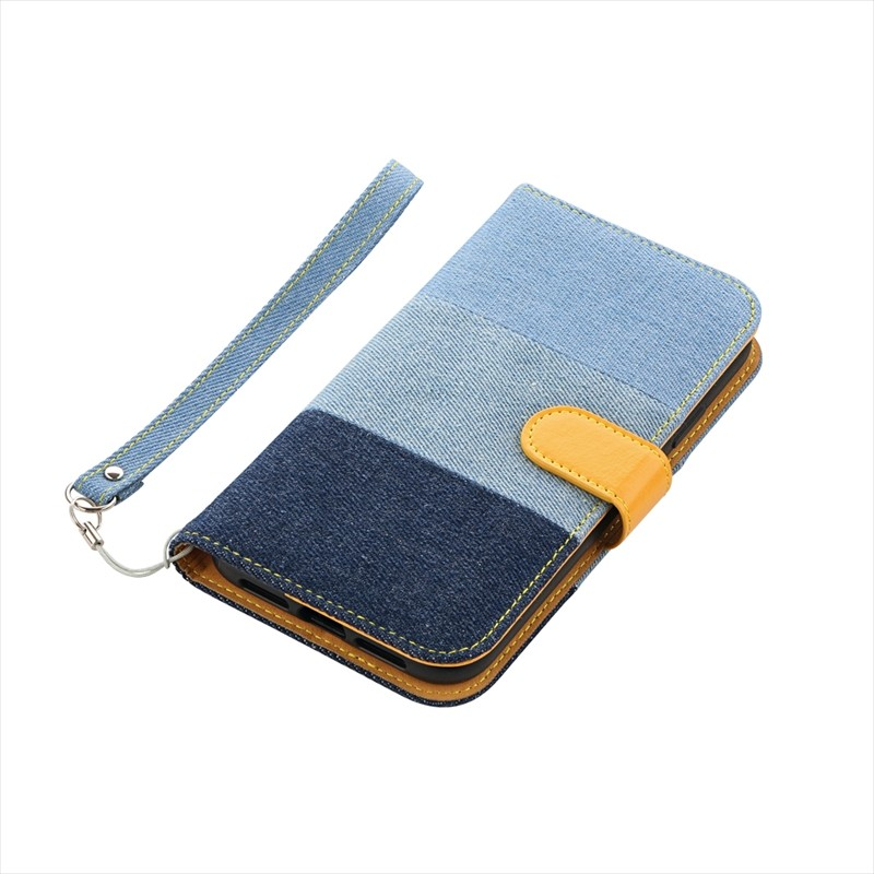 ◇iPhone XR デニムフラップケース「JIMS」 3色デニム