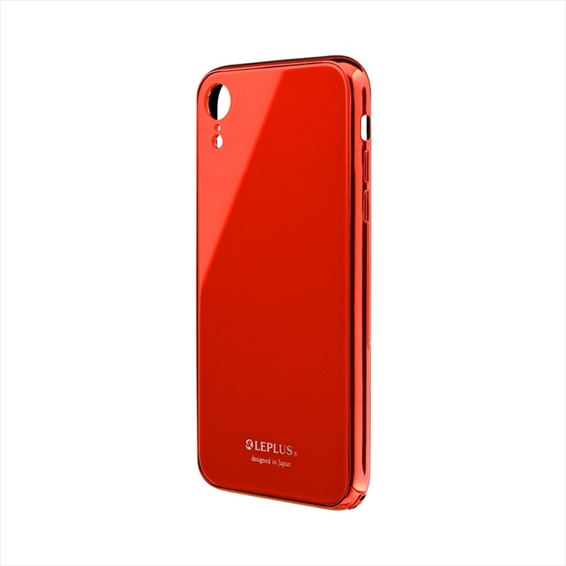 〇iPhone XR 背面ガラスシェルケース「SHELL GLASS PREMIUM」 レッド