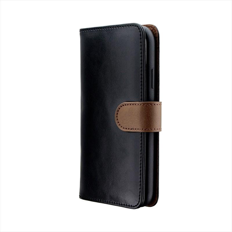 iPhone XR PUレザーベルト回転ブックケース「BOOK SPIN」 ブラック