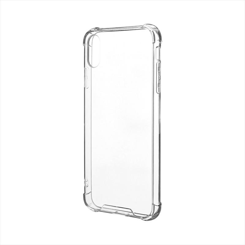 iPhone XS Max 「剛柔」 耐傷・耐衝撃ケース「ハイブリッドクリア」 クリア