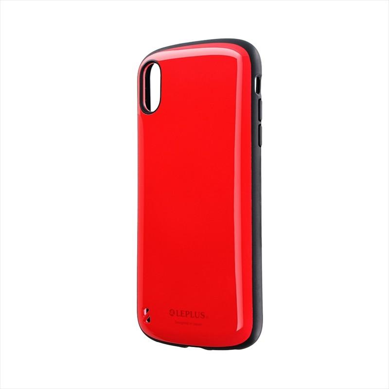 iPhone XS Max 耐衝撃ハイブリッドケース「PALLET」 レッド
