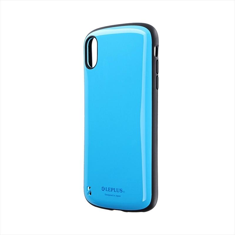 iPhone XS Max 耐衝撃ハイブリッドケース「PALLET」 スカイブルー