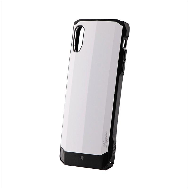 iPhone XS Max 耐衝撃ハイブリッドケース「LEGGERA」 ソリッドホワイト