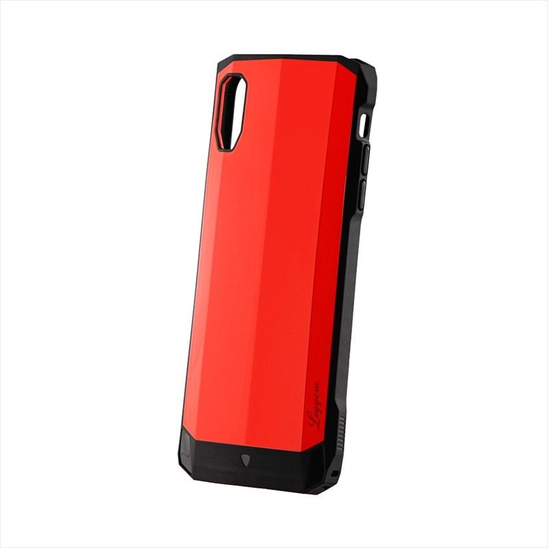 iPhone XS Max 耐衝撃ハイブリッドケース「LEGGERA」 ソリッドレッド