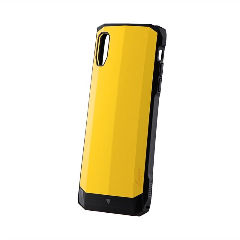 iPhone XS Max 耐衝撃ハイブリッドケース「LEGGERA」 ソリッドイエロー