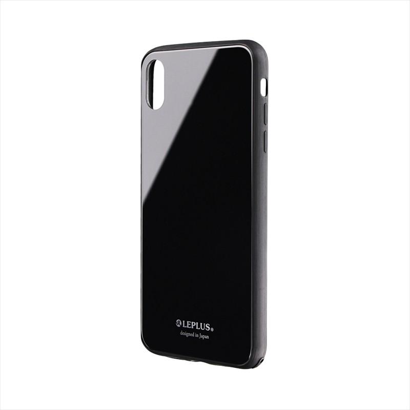 iPhone XS Max 背面ガラスシェルケース「SHELL GLASS」 ブラック