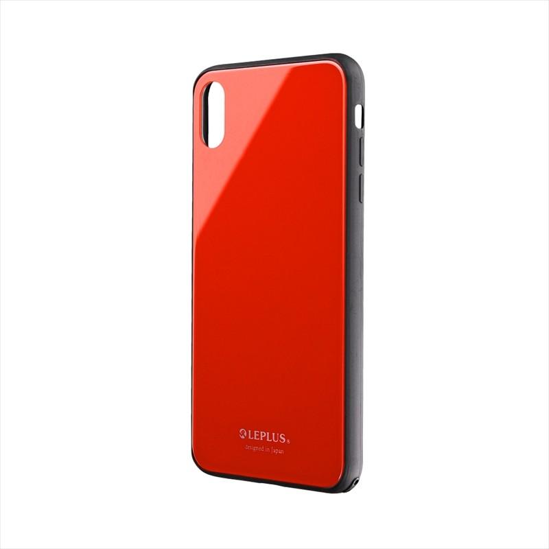 iPhone XS Max 背面ガラスシェルケース「SHELL GLASS」 レッド