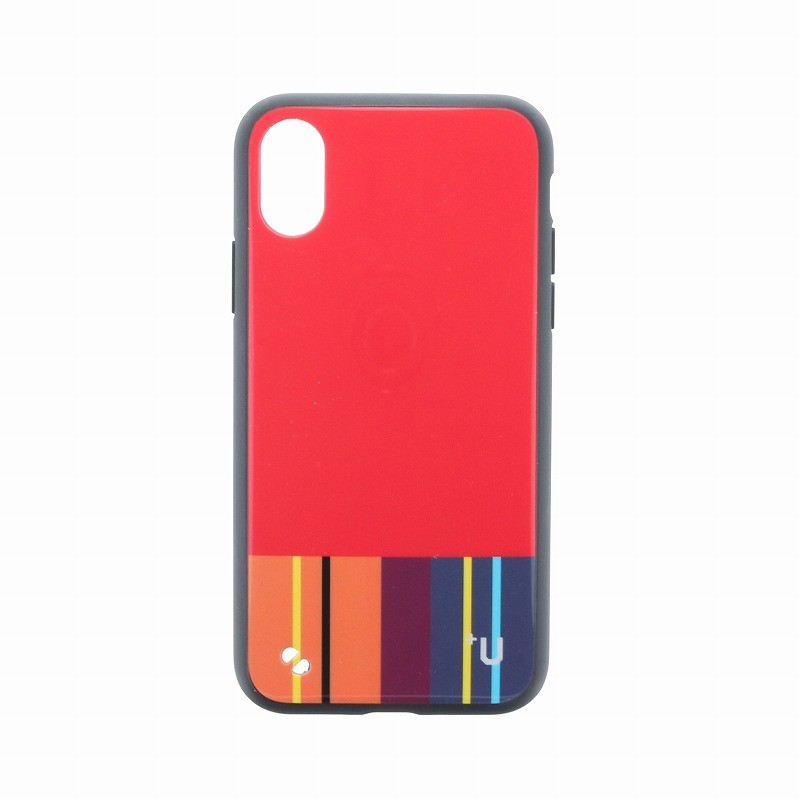 □iPhone XS/iPhone X 【+U】Eric/ハイブリットケース/レッド