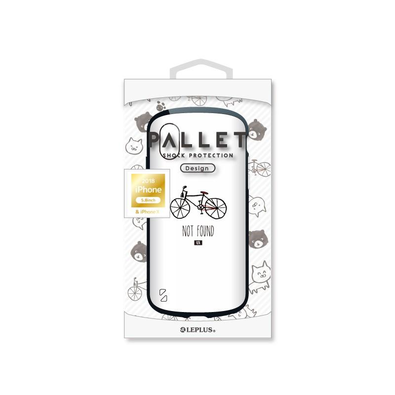 □iPhone XS/iPhone X  耐衝撃ハイブリッドケース「PALLET Design」 自転車