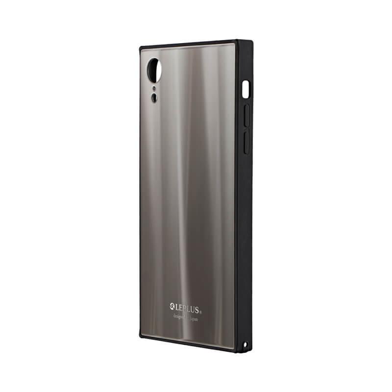 iPhone XR 背面ガラスシェルケース「SHELL GLASS SQUARE」 シルバー