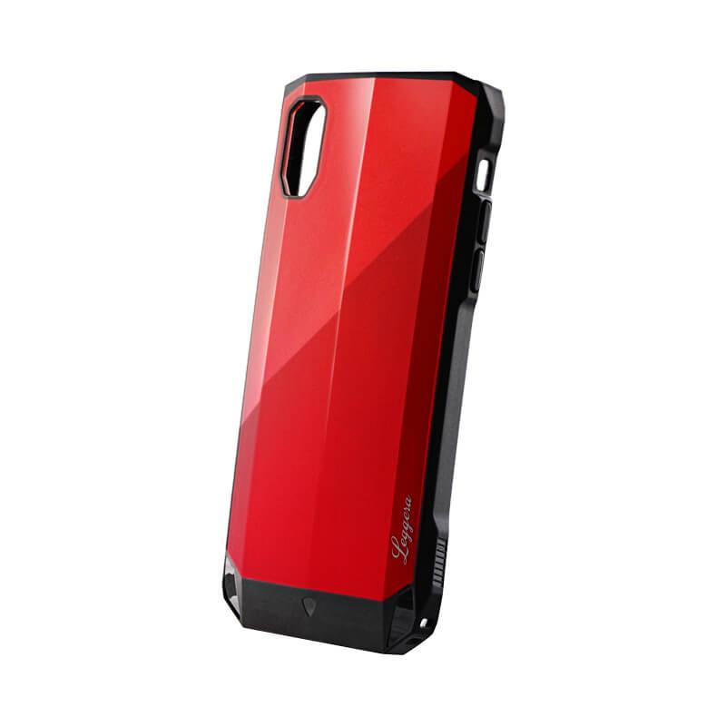iPhone XR 耐衝撃ハイブリッドケース「LEGGERA」 サファイヤレッド