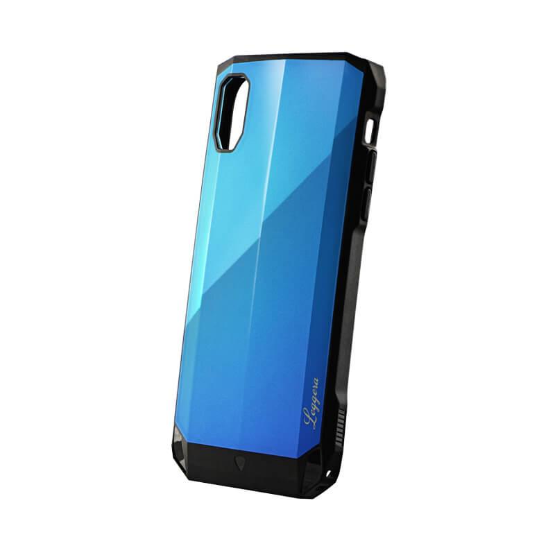 iPhone XR 耐衝撃ハイブリッドケース「LEGGERA」 ロイヤルブルー