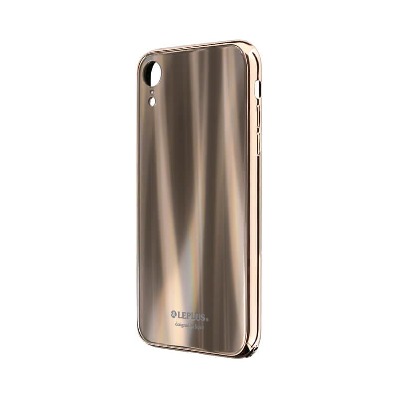 iPhone XR 背面ガラスシェルケース「SHELL GLASS PREMIUM」 ゴールド