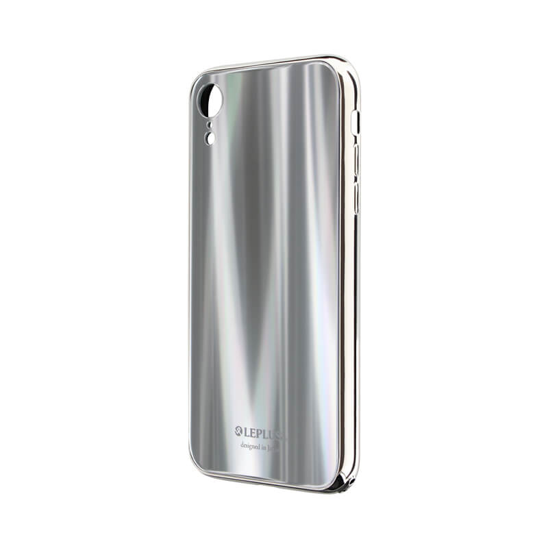 iPhone XR 背面ガラスシェルケース「SHELL GLASS PREMIUM」 シルバー