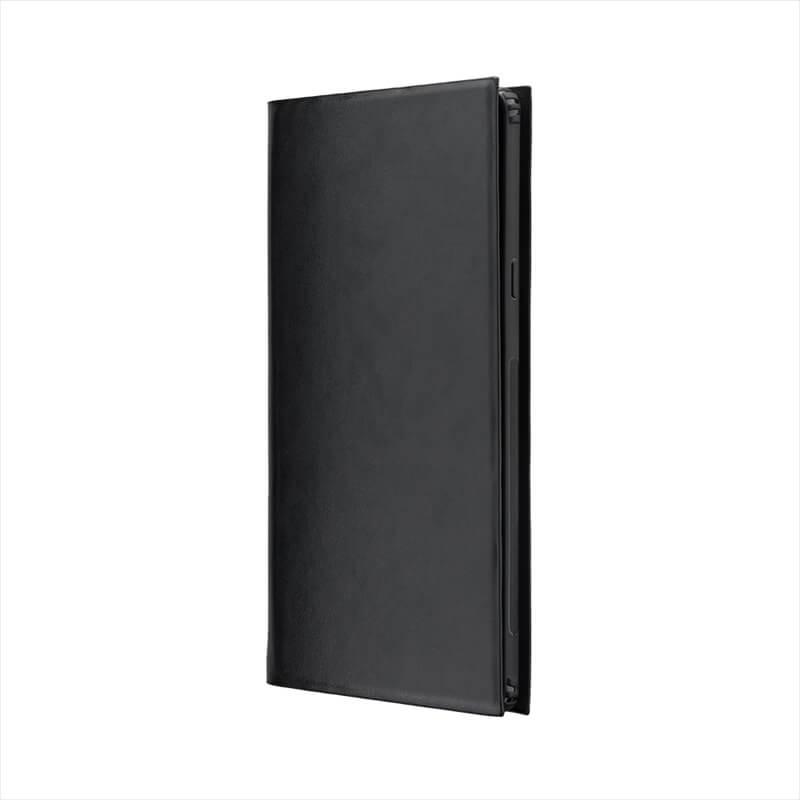 Galaxy Note9 SC-01L/SCV40 薄型PUレザーフラップケース「PRIME」 ブラック