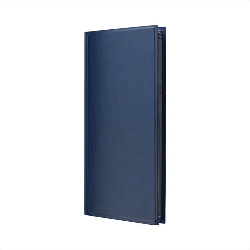 Galaxy Note9 SC-01L/SCV40 薄型PUレザーフラップケース「PRIME」 ネイビー