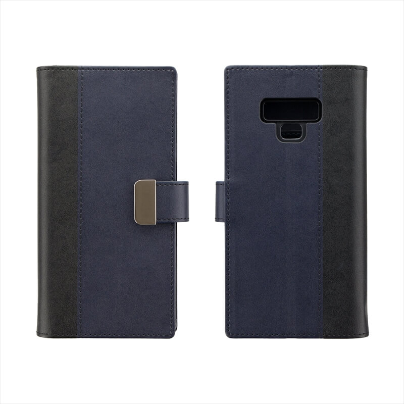 Galaxy Note9 SC-01L/SCV40 上質PUレザーブックケース「PREMIER」 ブラック