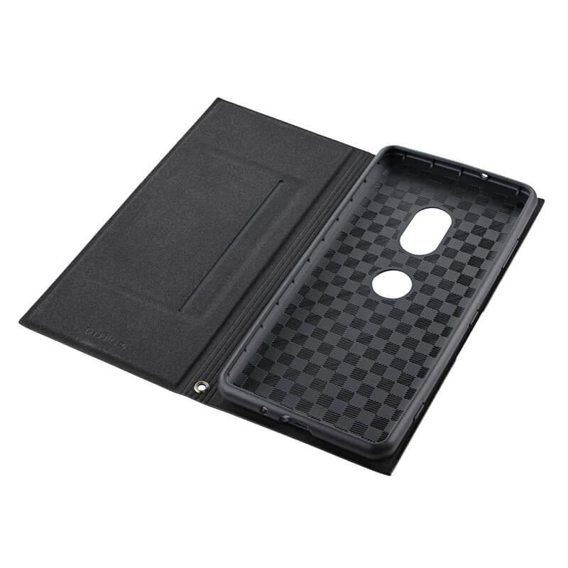 Xperia(TM) XZ3 SO-01L/SOV39/SoftBank 薄型PUレザーフラップケース「PRIME」 ブラック