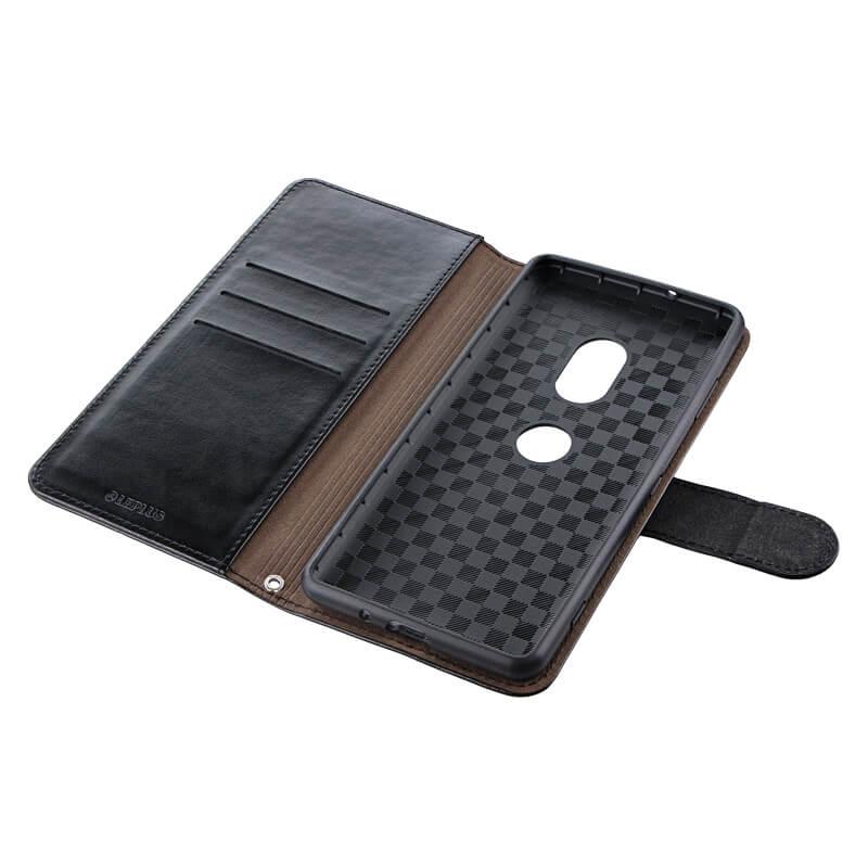 Xperia(TM) XZ3 SO-01L/SOV39/SoftBank PUレザーベルト回転ブックケース「BOOK SPIN」 ブラック