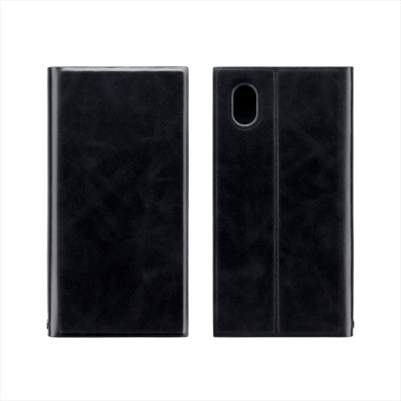 AQUOS sense2 SH-01L/SHV43 薄型PUレザーフラップケース「PRIME」 ブラック