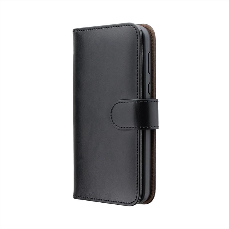 AQUOS sense2 SH-01L/SHV43 PUレザーベルト回転ブックケース「BOOK SPIN」 ブラック