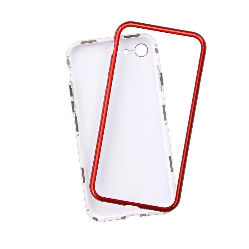 iPhone 8/7 ガラスハイブリッドケース「PALLET GLASS」 レッド