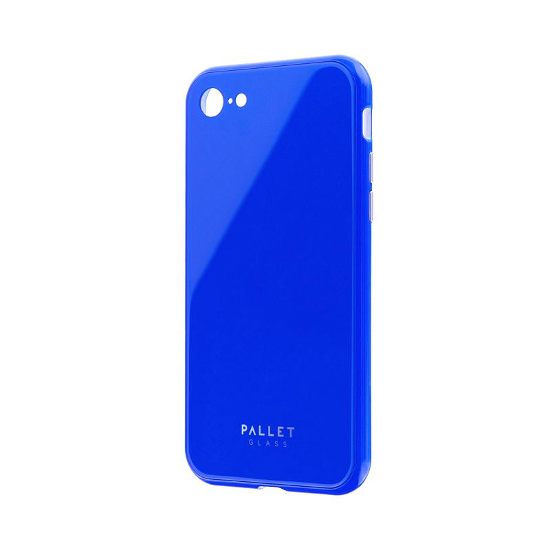 iPhone 8/7 ガラスハイブリッドケース「PALLET GLASS」 ブルー