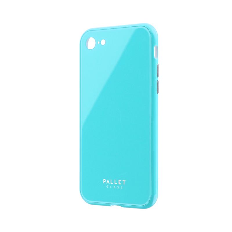 iPhone 8/7 ガラスハイブリッドケース「PALLET GLASS」 ミントグリーン
