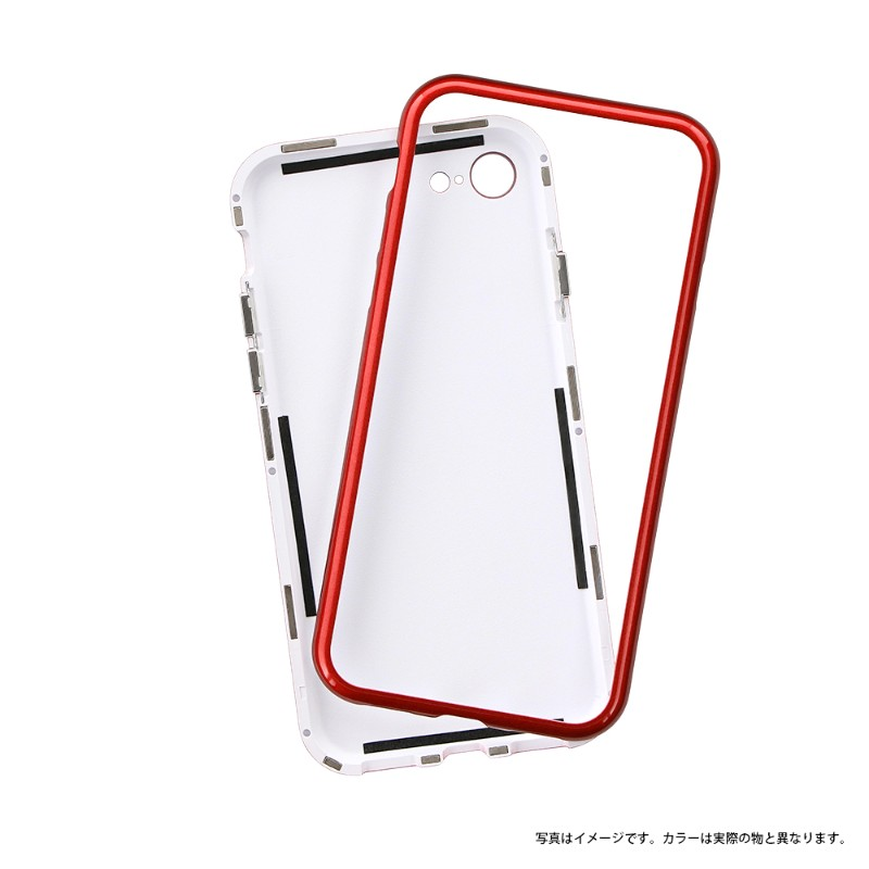 iPhone 8/7 ガラスハイブリッドケース「PALLET GLASS」 ピンク