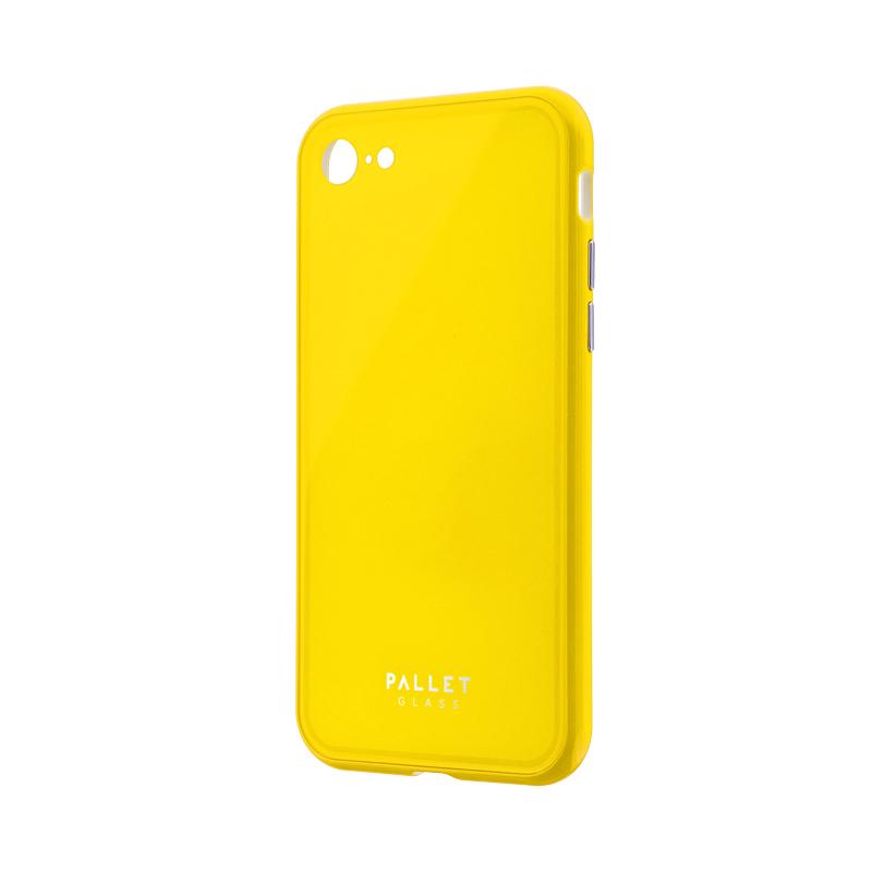 iPhone 8/7 ガラスハイブリッドケース「PALLET GLASS」 イエロー