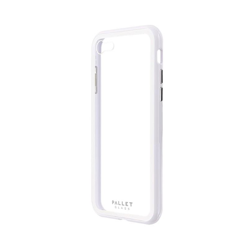 iPhone 8/7 ガラスハイブリッドケース「PALLET GLASS」 クリアホワイト